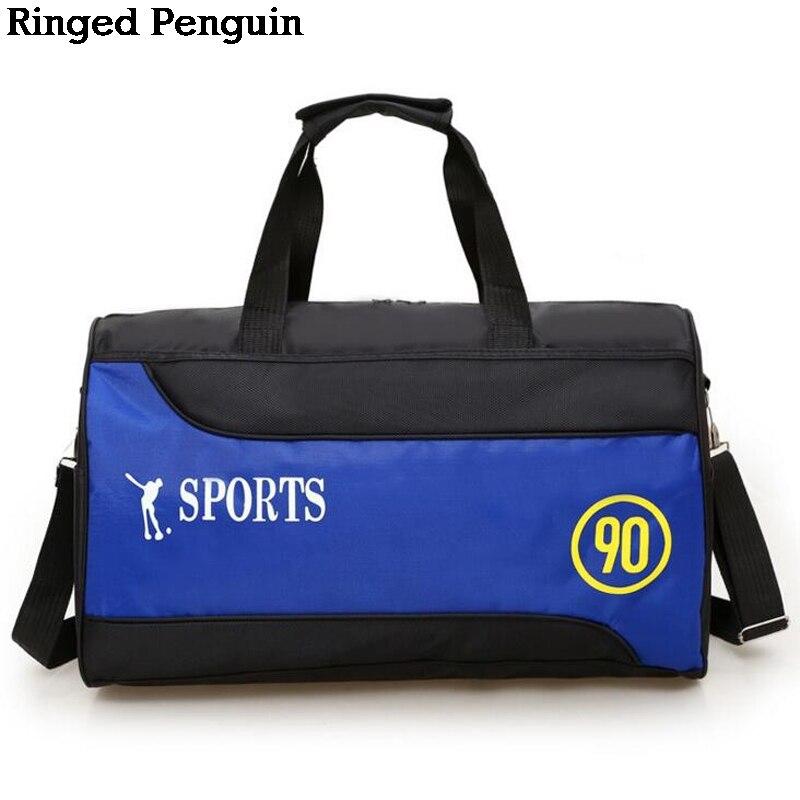 Ringed Penguin Waterproof Nylon Collapsible Travel Bag Short Trip Bag Male Large Capacity Ladies Shoulder Messenger Bag Travel