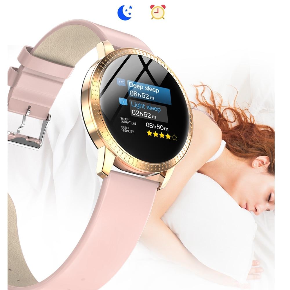 Montre intelligente IP67 pour Samsung Xiaomi Huawei CF18 hommes femmes étanche couleur écran tension artérielle moniteur de fréquence cardiaque montre intelligente