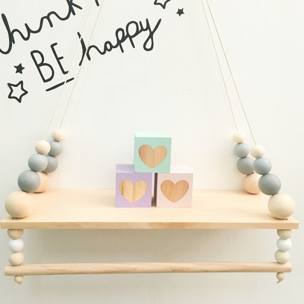 Houten Muurdecoratie Babykamer.Beste Kopen Kinderkamer Muur Planken Dubbele Dek Originele Hout