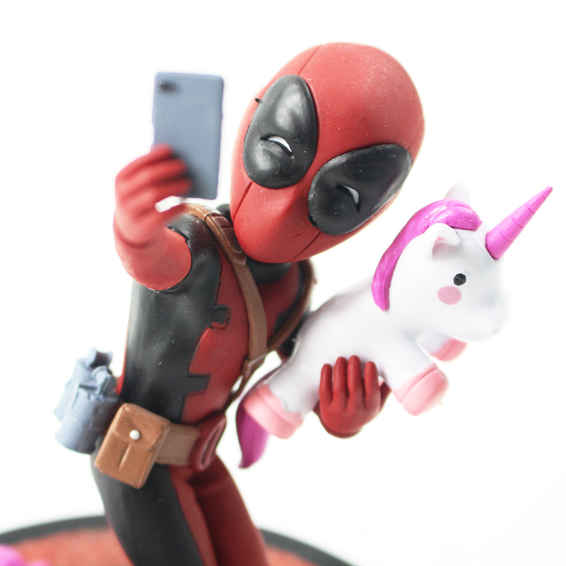 Funny Deadpool unicorn selfie figure 5