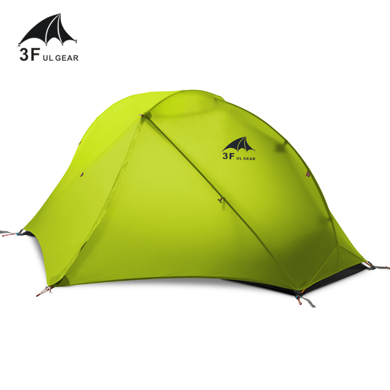 3F UL GEAR Oudoor Ultralight Camping Tent 3/4 Season 1 Single Person Professional 15D Nylon Silicon Tent Barracas Para Camping 995g camping inner tent ultralight 3 4 person outdoor 20d nylon sides silicon coating rodless pyramid large tent campin 3 season
