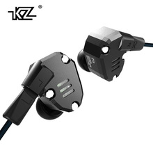 Wholesale Metal KZ ZS6 2DD+2BA Hybrid In Ear Earphone Running Sport Earphones Earplug Headset Earbud HIFI PK SE846 IE80 IE800 UE900 ZS5