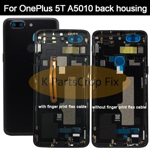 Original ด้านหลัง OnePlus A5010 5T ฝาครอบด้านหลังเคสประตู One Plus เปลี่ยน OnePlus 5T ฝาครอบ