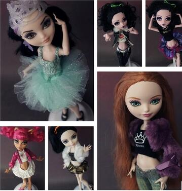Wholesale Variety Of Styles Of Original For Monster High Doll Clothes Dress Set Wizard School Accessories