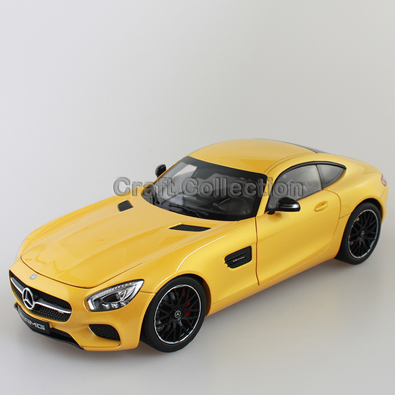 Yellow 1 18 Scale AMG GT S C190 Sport Car Coupe Collection Diecast Model Car