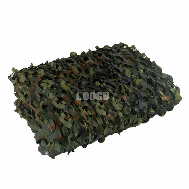 LOOGU EM 2M*3M Woodland Camo Netting Jungle Shelter Net for Hunting Camping tent outdoor Sun-shade
