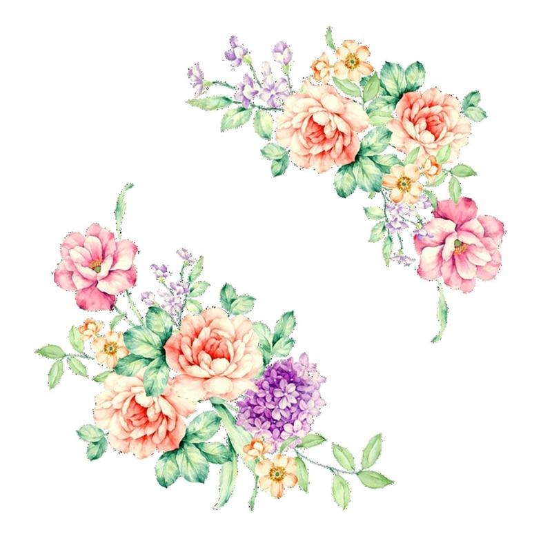 Романтический Красочные цветы пиона стены дома наклейки на Шкаф Декор ПВХ Переводные картинки Гостиная Туалет холодильник украшения