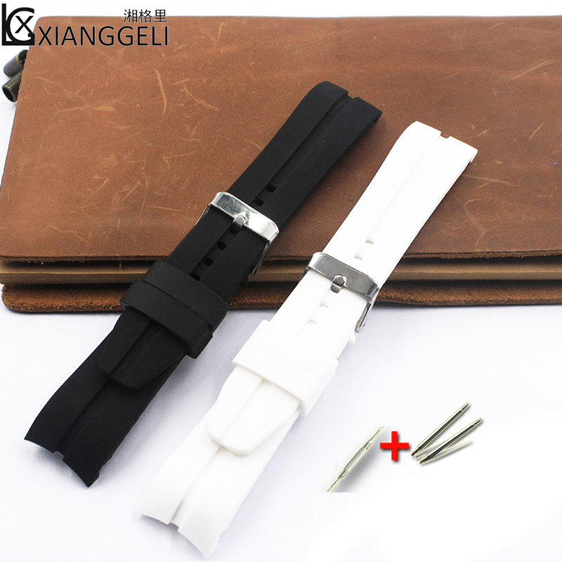 Watch Accessories 22mm Silicone Strap Curved Interface For Men And Women Outdoor Sports Watches And Other International Brands