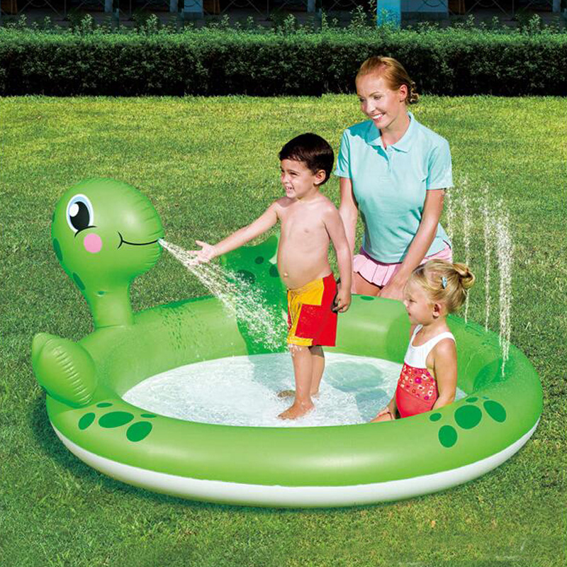 180*152*66cm new design Cool Frog swimming pool children swimming high quality children inflatable pool free shipping environmentally friendly pvc inflatable shell water floating row of a variety of swimming pearl shell swimming ring