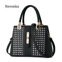 Nevenka Mode Handtaschen Frauen Taschen Designer Diamantgitter Schloss Casual Tote Qualität Reißverschluss Umhängetaschen