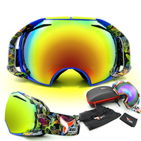 BHWYFC High Quality Snowboard Goggles Super Wide View Professional Ski Goggle Women Men Anti Fog Double