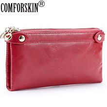 Genuine Leather Mini Hand Bag Fashion Style Hot-selling Women clutch wallet pocket 4 colour on Sale
