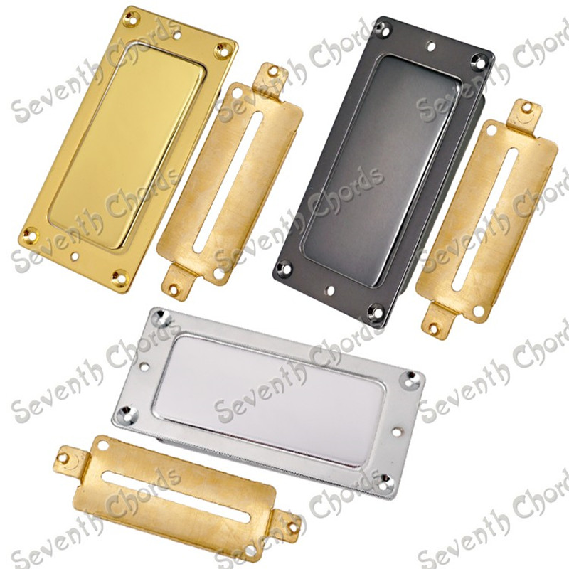 A Set 72mm X 32mm Sealed Type Brass Pickup Humbucker Covers  Pickup Ring  Humbucker Baseplate for Electric Guitar  3 Colors 8 string guitar pickup set double coil humbucker for electric guitar black