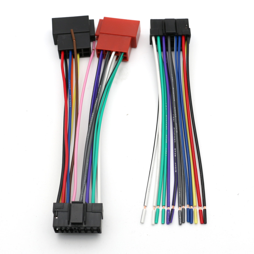 AtoCoto ISO Standard Wire Harness for Sony CDX MEX DSX WX Car CD Radio  Audio Stereo Wiring Harness Connector Adapter Plug Cable -in Cables, ...