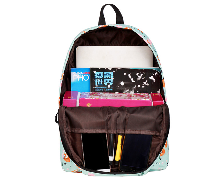WINNER Fox Pattern Printing Backpack Female Travel Daily Laptop Student School Backpack Water  Repellent For Teenagers Mochila 2018 (5)