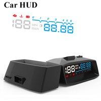 2017 Araba HUD HEAD up Display OBDII Araba Sistemi Otomatik KM/H RPM Gaz Hatırlatmak Alarmı Parametre Cam Projektör HeadUp Ekran