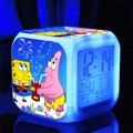 Bob esponja Nueva LED de 7 Colores Cambio Digital esponja muñeca de la felpa de La Noche Que Brilla Intensamente Colorido juguetes de Peluche y Felpa Animales