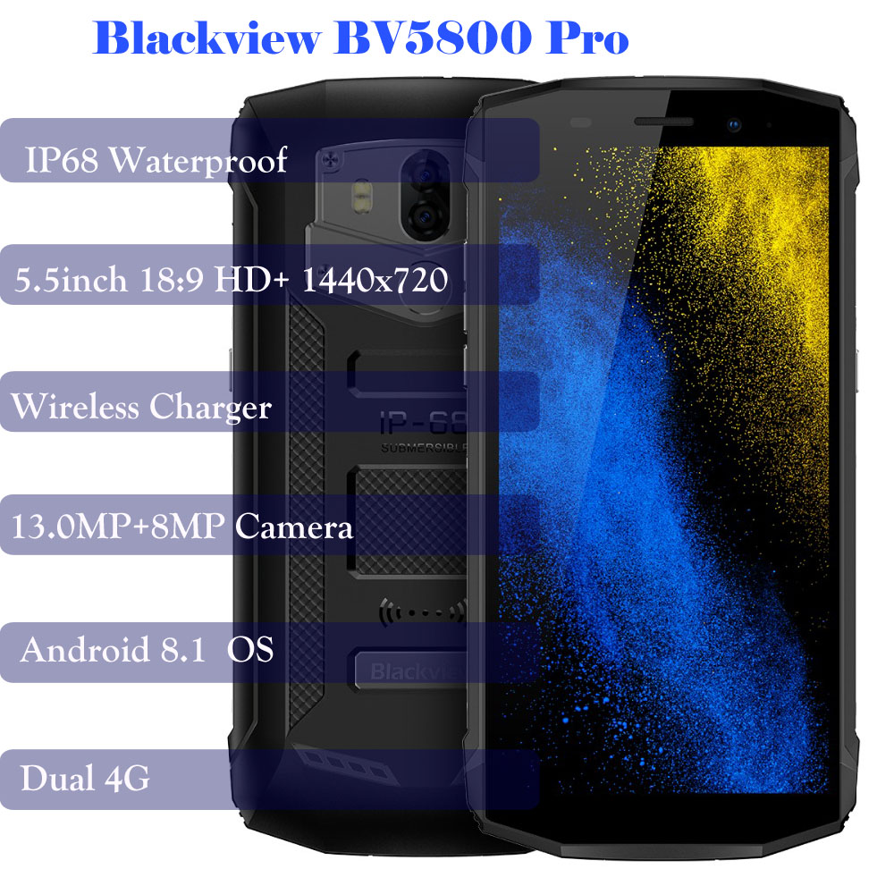 Back To Search Resultscellphones & Telecommunications Promotion Blackview Bv5800 Pro Ip68 Waterproof Wireless Charge 5580 Mah 4g 18:9 2gb 16gb Smartphone Mt6739 13mp Nfc Touch Id
