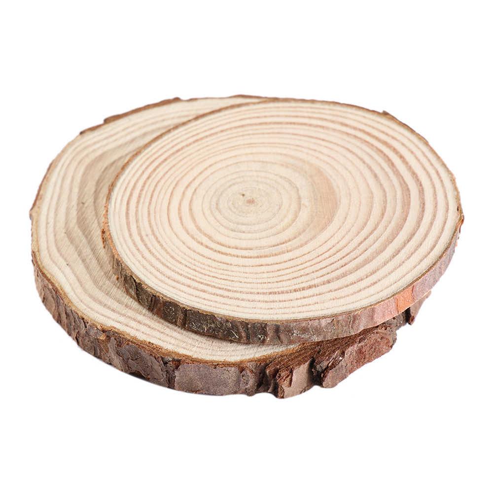 5 גדלים טבעי עגול עץ תחתיות DIY עץ עיצוב הבית כרית כוס תה ספל קפה משקאות מחזיק שולחן מחצלת