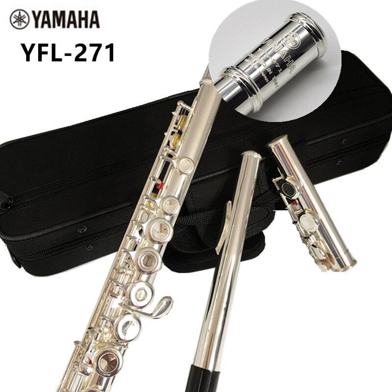 Top Japan Flute 16 Hole with E Key YFL 271 Silver Plated Flute C Key White Copper Flauta Transversal Music Instrumentos new flute 17 hole open silver plated key e key high quality ebony wood 5