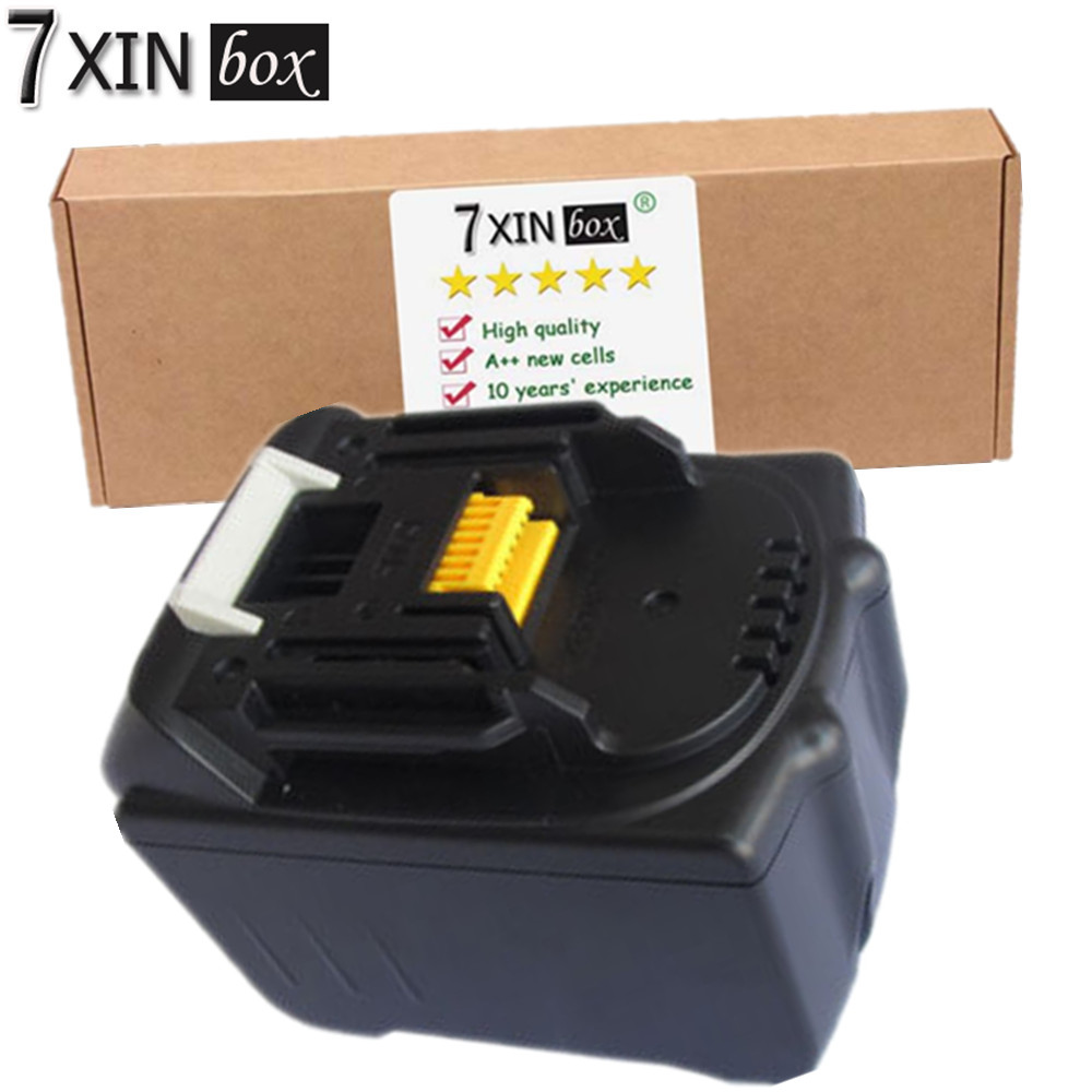 7XINbox 18V 6000mAh Power Tool Battery For Makita 194205-3 BL1830 BL1860 BL1840 BL1850 LXT400 BHR240 ML185 Li-Ion Packs cm 052535 3 7v 400 mah для видеорегистратора купить