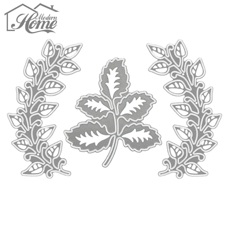 Image 4 - 3pcs Leaves Metal Cutting Dies Stencils For DIY Scrapbooking Album Decorative Embossing Template Folder Wedding Decor Die Cuts-in Cutting Dies from Home & Garden