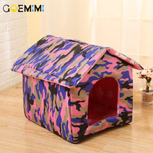 New Pet Dog Fashion Bed Comfortable Camouflage Kennel Cushion Top Quality Cat Small House Products