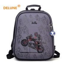 DELUNE Orthopedic School Backpack Kids Bag Waterproof Primary Randoseru Children School Bag For Girls And Boys