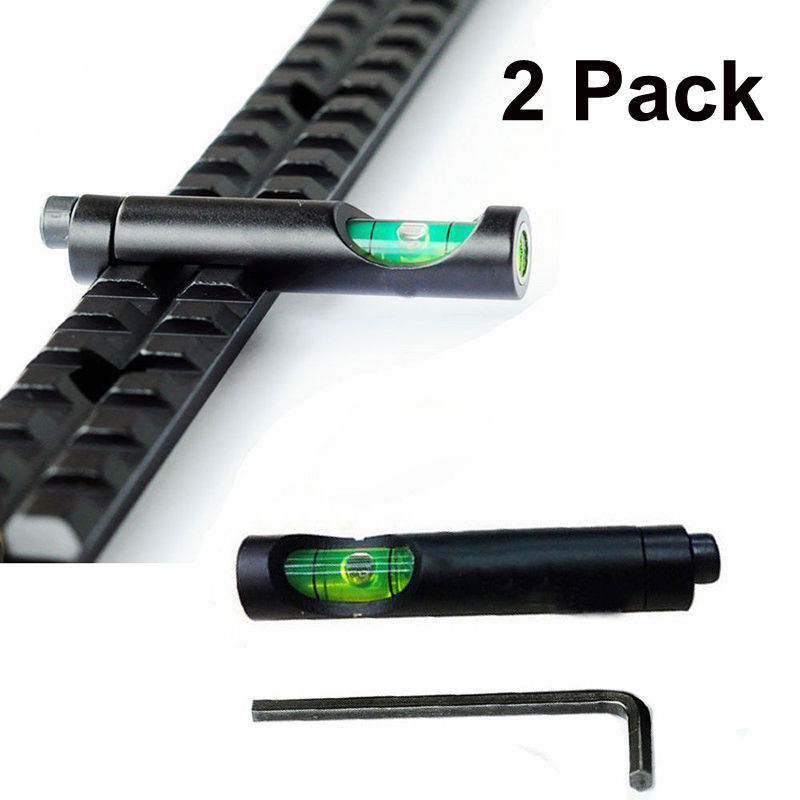 2pack Tactical 2mm Metal Level 20mm Picatinny Weaver Railway Rifle Sight Can Really Calibre Air Rifle