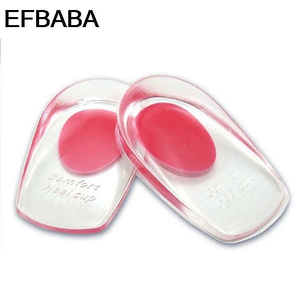 EFBABA Silicone Insole Heel Pads Fascitis Plantar Gel Cushion Damping Insoles Heel Spur Shoe Pad Inserts Accessoire Chaussure silicone insole prevent blisters pads gel cushions heel inserts shoe liners semelle chaussure palmilhas inlegzolen shoes insoles