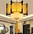 Persönlichkeit muster pendelleuchten Chinesischen stil Holz pendelleuchten Studie tee pavilion wohnzimmer esszimmer roomZA