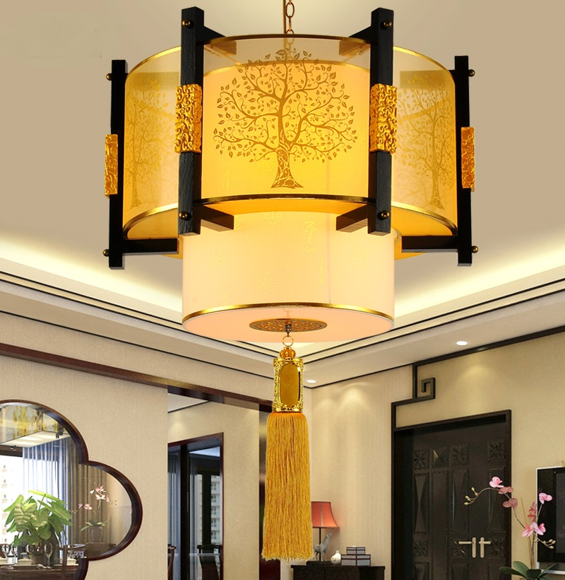 Personality pattern pendant lamps Chinese style Wooden pendant lights Study tea pavilion living room dining roomZA chinese style iron rectangula pendant lamps creative personality study the living dining room bar lights za628 zl33 ym
