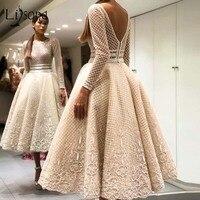 Элегантные вечерние платья Bige уникального цвета с кружевами, с длинными рукавами и v образным вырезом на спине, длиной до щиколотки, платья д