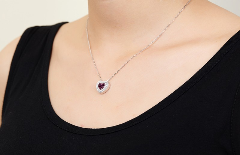 heart shape pendant necklace for special peopleDP14020A (8)