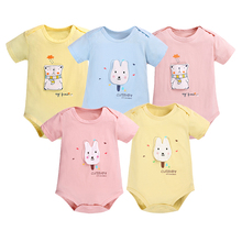 Summer Baby Bodysuit Toddler Girl Short Sleeve Pure Cotton Outfit Clothes Body B