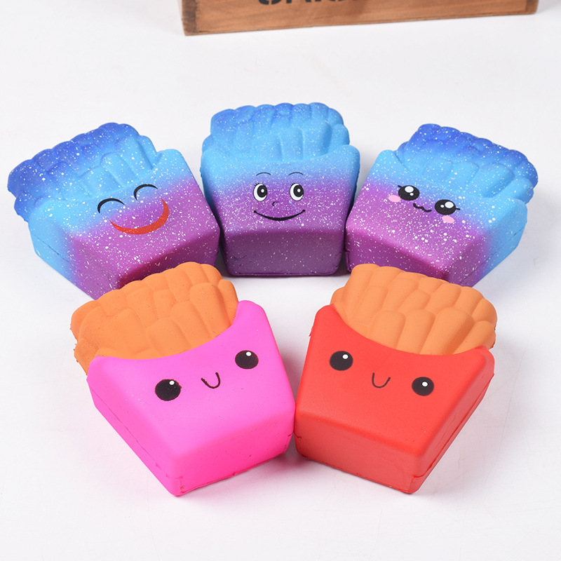 Antistress Cute Squishy Slow Rising Galaxy Deer Poo bread Hamburger Coffee Strawberry Ice PU Squishy Toys Squeeze Squishes Toy best girl toys 2017