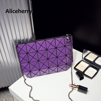 BAOBAO Bag Geometry Package Evening Clutch Shoulder Bag Sequins Saser Plain Folding Handbags Briefcase Shoulder Women