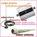 LCD GSM CDMA UMTS 850 MHz 2G 3G 4G Móvel Sem Fio Repetidor de Sinal de telefone Impulsionador Repetidor de Sinal Amplificador + Cabo + antena