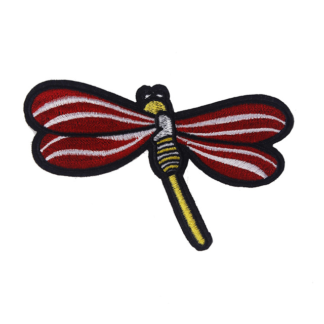 5pieces Dragonfly Embroidery Iron On Patches Applique Patch Lace
