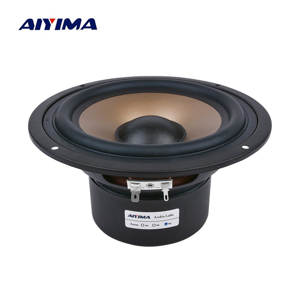 AIYIMA 1 Pc 6.5 pouces haut-parleur De basse 4 8 ohms 120 W Hifi Subwoofer haut-parleurs Audio haut-parleur De graves pour Home cinéma Caixa De Som