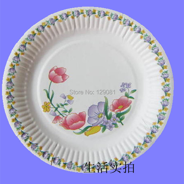 9  Disposable white paper plate/paper plates/cake pan Decorative pattern A 100piece  sc 1 st  AliExpress.com & 9