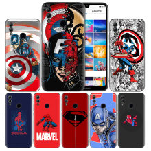 Marvel Batman Spiderman CBlack Silicone Case Cover for Huawei Honor 8X 8C 8A 8S 10 10i Lite Play V20 Y9 Y7 Y6 Y5 Prime 2018 2019(China)