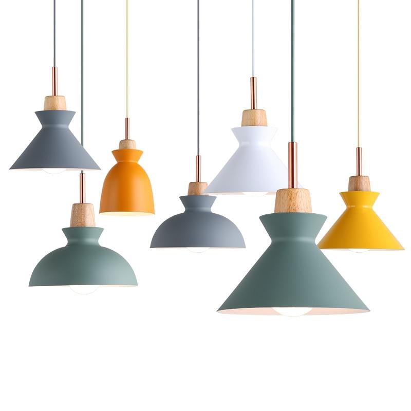 Bell Pendant Lamp Suspension Light Macaron Color Lighting Green Blue Yellow Gray Dinning Room
