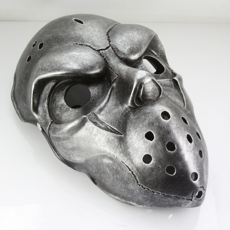 Slapshot Hockey Mask Korean Online Game Theme for Party Halloween Christmas Cosplay Resin Full Face Silver Free Shipping