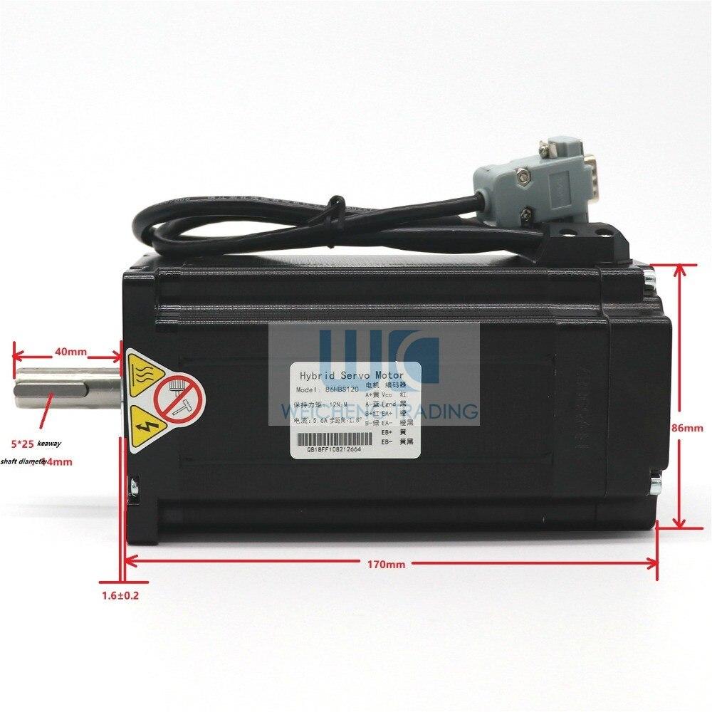 1SETCNC NEMA 34 Closed Loop motor 12NM 6A 2-phase Hybrid nema 34 motor driver DC(40-110V) / AC(60-80V)