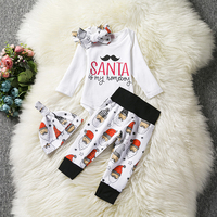 New Winter Baby Boys Girls Clothes Sets Tops Santa Gift Infant Clothing Clothes Outfits Christmas Sets
