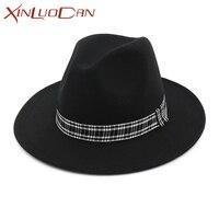 אופנתי כובעי גבירותיי דלי מגבעות לבד צמר הרגיש נשים כובע חורף סתיו אביזרי כובעים & Caps לגברים WH339