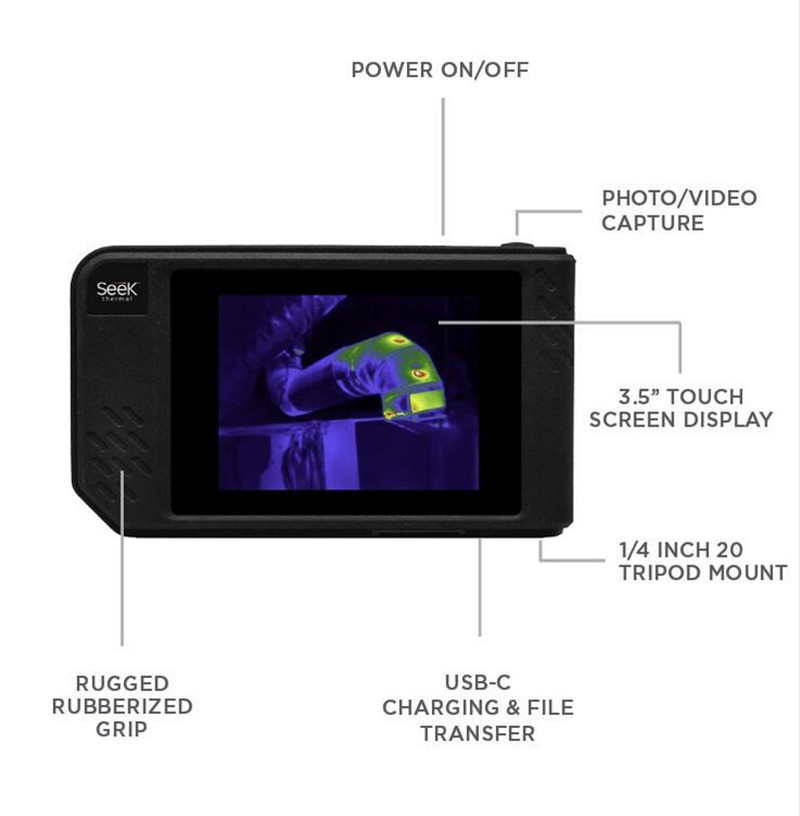 Seek Thermal SHOT SHOT PRO Imaging Camera infrared imager Night Vision photos video Large Touch Screen