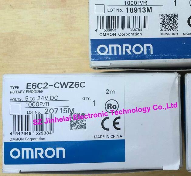 100% New and original  E6C2-CWZ6C  1000P/R  OMRON   Encoder   5-24VDC [zob] new original omron omron beam photoelectric switch e3jk tr12 c 2m 2pcs lot