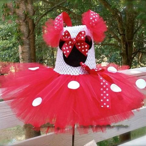 bonito meninas rosa mickey tutu vestido bebe